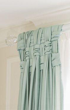 Woven drapes, very pretty