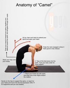 Help relieve your back pain with the camel pose