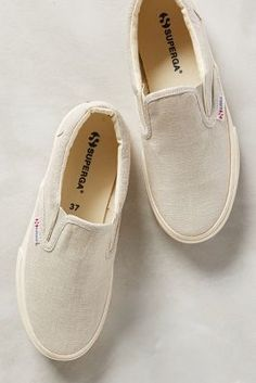 Superga Linu Slip-Ons Sand Shoes #anthroregistry