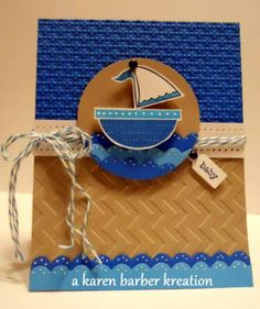 CC388 - BOATS OF LOVE.... by Karen B Barber - Cards and Paper Crafts at Splitcoaststampers