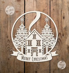 SVG / PDF Christmas Scene Globe Design - Papercutting / Vinyl Template to cut yourself (Commercial Use)