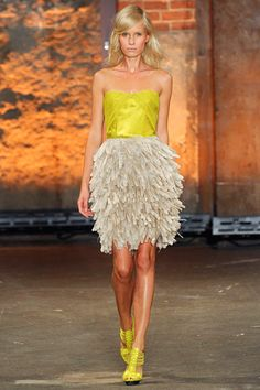 Christian Siriano - apparently I need to buy everything Chartreuse. This is FAB