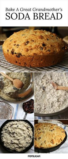 How to bake a great Grandmother's Irish soda bread. This is one of the easist bread recipes out there. Baking soda leavens the bread, so there's no waiting for the bread to rise. The caraway and raisins add sweetness and flavor, but they can be left out or substituted for other dried fruit and herbs. Once the bread is baked, serve it up with a generous mound of Kerrygold butter!