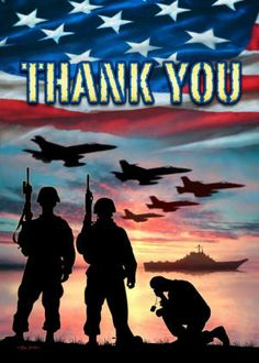 Thank you to ALL of our Military with either 2 legs or 4 legs!!! God Bless & Protect you!!!
