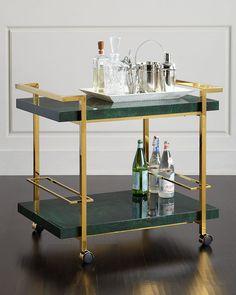 Jolie Brass Bar Cart