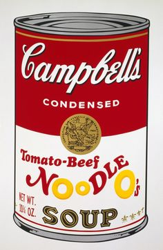 Andy Warhol -  'Campbell's Soup II: Tomato-Beef Noodle O's' 1969