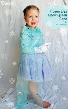 Frozen Elsa Snow Queen Cape - so simple, your daughter is gonna LOVE it!!!