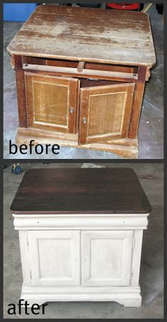 refinish new desk like this