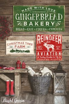 Gingerbread Sign Bakery Decor Bakery Sign Kitchen by RightGrain