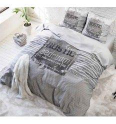 Sengetøj Micropercal - Rustic bedroom