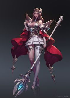 Artstation - personal concept magician, heewon kang female w Fantasy Female Warrior, Warrior Girl, Fantasy Armor, Fantasy Women, Fantasy Girl, Female Art, Final Fantasy, Character Design Cartoon, Fantasy Character Design
