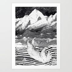 AWAKE & DREAMING Art Print
