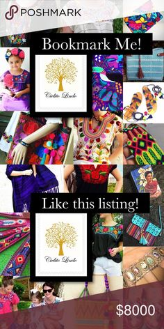 Do you like Embroidery? Bookmark my closet! Do you like Embroidery? Ethnic handbags? Tribal patterns? Artisan handmade clothing and accessories? Handcrafted shoes and sandals? Mexican Dresses and Blouses? South American fashion? Cielito Lindo proudly brings to you a wide variety of Hand-Stitched goods, leather shoes, hand woven handbags, embroidered dresses and tops, Frida Kahlo, Day of the Dead, Skulls, Mariachi, Mexican Bingo ( Loteria ) and many folk art items. We sell in many platforms…