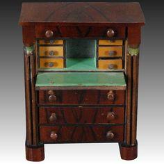 c 1840-50 Dollhouse Drop-front Secretaire