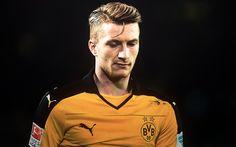 تحميل خلفيات ماركو ريوس, 4k, لاعبي كرة القدم, الدوري الالماني, كرة القدم, بوروسيا دورتموند