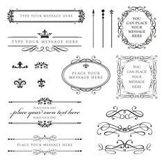 Vintage Clip Art Clipart Calligraphy Design Elements DIY Wedding Invitation Scrapbooking Embellishment Oval Frame Digital Flourish 10140. $6.50, via Etsy.