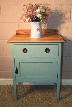 Bedside Table Cabinet Pot Cupboard Side Table Bedroom Furniture Shabby Chic