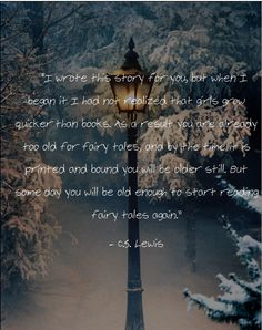 C.S. Lewis on Narnia - I'm glad I can read fairy tales again!