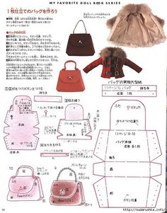 How To Make Barbie Doll Handbags - Best Barbie Pictures 2018 Barbie Sewing Patterns, Sewing Dolls, Doll Clothes Patterns, Doll Patterns, Bags Sewing, Handbag Patterns, Knitting Patterns, Girl Doll Clothes, Girl Dolls