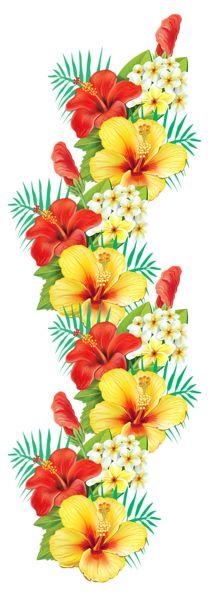 Экзотические цветы Декор PNG Clipart