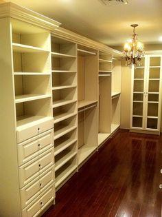 Walk-In Closet in Almond - traditional - closet - newark - Bella Systems