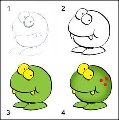 How to draw a funky frog.
