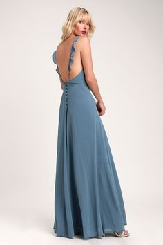 100 Bridesmaid Dresses Perfect for Your Fall Wedding | The Perfect Palette Burgundy Maxi Dress, Blue Maxi, White Maxi Dresses, Maxi Wrap Dress, Maxi Dress With Sleeves, Formal Dresses, Women's Dresses, Sparkly Dresses, Velvet Dresses