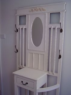 Hall stand - something like this could work, but not sure I'd want it painted....?