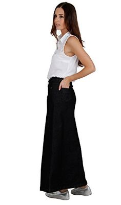 149327a295 Cindy H Denim Long Skirt - Black SKIRT59 Womens Maxi Skirt Full Length Denim  Skirt