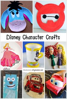 Disney Character Crafts made with items found in the kitchen is part of Disney crafts To Make - 20 Disney Character Crafts made with items found in the kitchen paper plates, kcups, etc Everything from Sleeping Beauty to Big Hero Disney Diy, Disney Crafts For Kids, Disney Theme, Crafts For Kids To Make, Toddler Crafts, Crafts For Teens, Disney Games For Kids, Disney Princess Crafts, Summer Crafts
