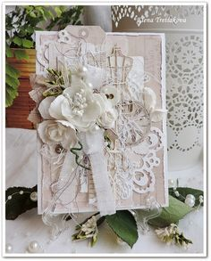 """Vintage Cafe Card Challenge: """"My Sewing Work..."""" - первое открыточное задание нового сезона."""