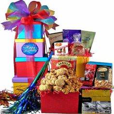 Art of Appreciation Gift Baskets   Happy Birthday Surprise! Gourmet Snacks Tower --- http://www.amazon.com/Art-Appreciation-Gift-Baskets-Birthday/dp/B0006GWXZS/?tag=affpicntip-20