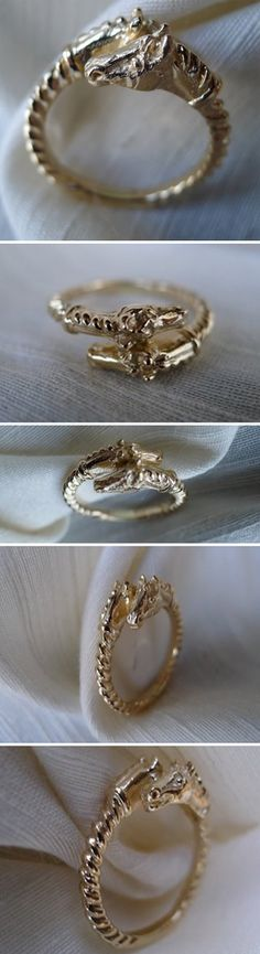 Newest addition!  14k gold (or sterling silver )horse heads ring!  Classic equestrian design with a twist!