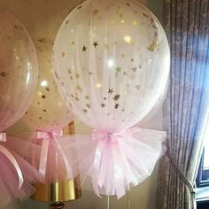 Twinkle little star balloon and tule