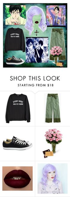 """""""Kiss kiss fall in love,Kyoya"""" by rilakkuma394 ❤ liked on Polyvore featuring Private Party, J.Crew and Converse"""