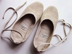 Ecochic Ballerina Flats Linen in Beige Ready by TheGeneration