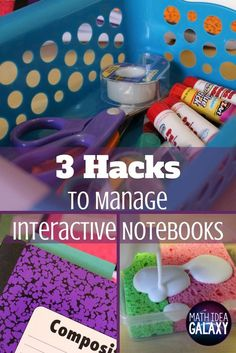 3 Hacks to Manage Interactive Notebooks in the Math Classroom 3 hacks to help interactive notebooks run smoothly, especially in the secondary math classroom. Interactive Notebooks Kindergarten, Interactive Journals, Math Notebooks, Biology Interactive Notebook, Reading Notebooks, Kindergarten Math, History Classroom Decorations, Science Classroom, Classroom Ideas