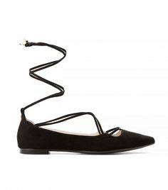Mango Ballerina Flats