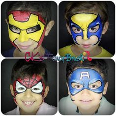 From a #superheroes party #facepainter #facepainting