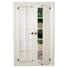 Double sliding patio doors procura best front door curtains oscarsplace diy room divider curtain swing arm curtain rods adjule 50 french door curtain rods you llSwing Arm Curtain Rod Roller Shades Medium. Swing Arm Curtain Rods, Drapery Rods, Style At Home, Panel Doors, Windows And Doors, Bay Windows, Casement Windows, Small Windows, French Door Curtains