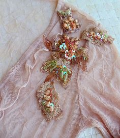 Hand embroidered vintage lace