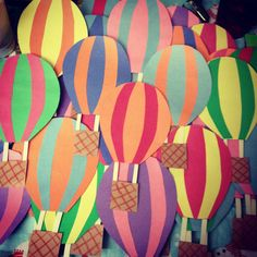 hot air balloons Door Decs for Oh, the Places You'll go