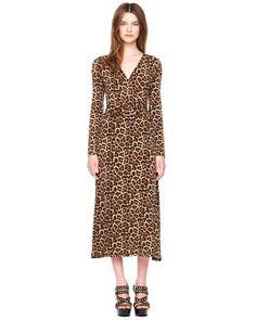 MICHAEL Michael Kors  Leopard-Print Twist Dress.