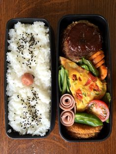 Obentou Hamburger & Frittata - Back To School Lunch Ideas - Bento Ideas Asian Recipes, Real Food Recipes, Cooking Recipes, Healthy Recipes, Bento Recipes, Bento Ideas, Lunch Ideas, Cute Food, Yummy Food