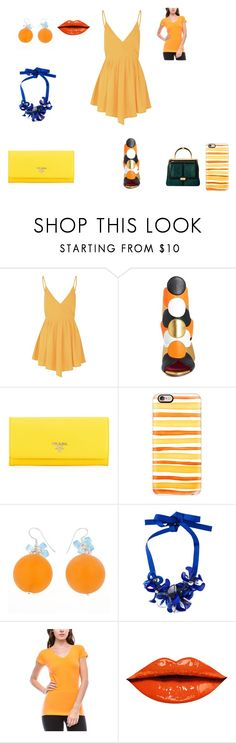 """planes fire and rescue"" by leannsaxon123 on Polyvore featuring Glamorous, Oscar Tiye, Prada, Casetify, P.A.R.O.S.H., Balmain, women's clothing, women's fashion, women and female"