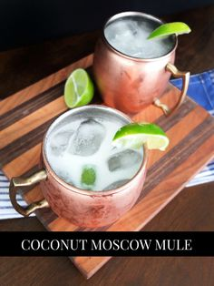 A classic moscow mule takes on Thai flavors in this Coconut Moscow Mule. #HappyHour