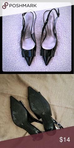 Marc Fisher Lori  Blk.Patent leather Heels MF Lori Blk.Patent leather Slingback 3.5in. heels in great condition. sz.8 Marc Fisher Shoes Heels