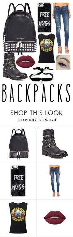 """""""Untitled #242"""" by rainy-kat ❤ liked on Polyvore featuring Michael Kors, Ash, Casetify, BLANKNYC, Miss Selfridge, Lime Crime, Aamaya by priyanka, backpacks, contestentry and PVStyleInsiderContest"""