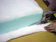How to apply fiberfill to your foam...