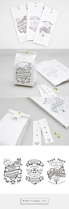Stamp the bags, print and cut the tags